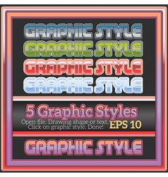 Set of various colorful graphic styles for design vector