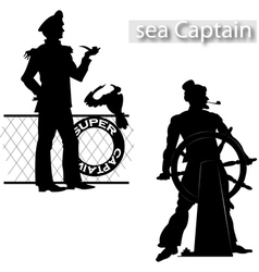 Sea captain vector