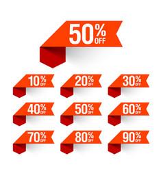 Sale discount labels vector image