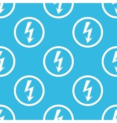 Voltage sign blue pattern vector