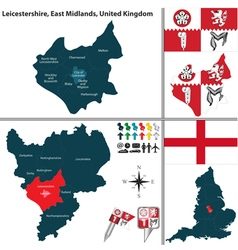 Leicestershireeast midlands vector