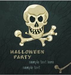 Grungy halloween background vector
