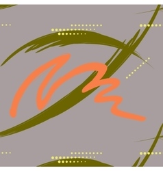 Abstract green and orange brush stroke with dashes vector
