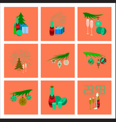 Assembly flat celebration christmas vector