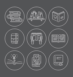 Books in circles vector image vector image