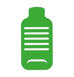 bottle green ecology icon vector image vector image