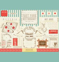 Burger placemat vector