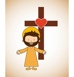 Catholic religion design vector