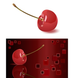 Cherry and abstract background vector