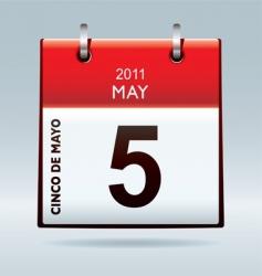 cinco de mayo calendar icon vector image