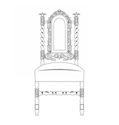Classic luxury style furniture vector