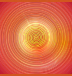 colorful orange swirling cyclone background with vector image vector image