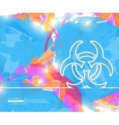 Creative bio hazard art vector
