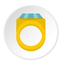 Diamond ring icon circle vector
