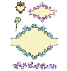 doodle frames - second part vector image vector image