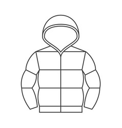 duvet jacket with hood vector image vector image