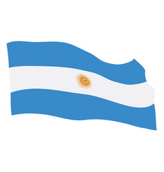 flag of argentina vector image