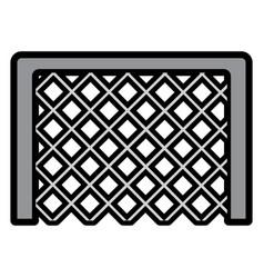 goal net football soccer icon image vector image vector image