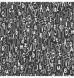 handdrawn alphabet seamless pattern vector image