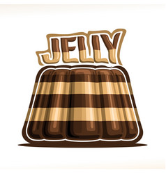 Logo for chocolate jelly vector