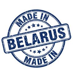 Made in belarus blue grunge round stamp vector