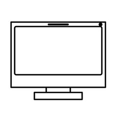 Monochrome silhouette of lcd monitor vector