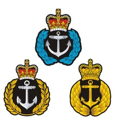 Navy cap badge vector