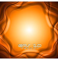 Orange abstract design vector image vector image