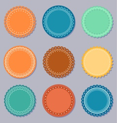 Set of labels or stickers vector image vector image