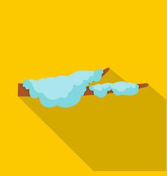 Snow icon flat style vector