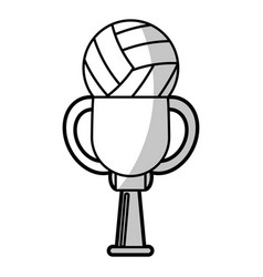 Volleyball winner cup prize - shadow vector
