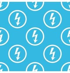 Voltage sign blue pattern vector