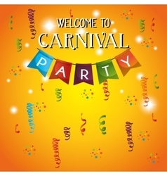 Welcome carnival party decorative gralands vector
