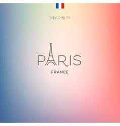 World cities labels - paris vector