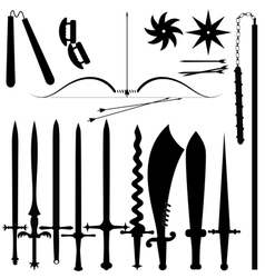 Set of item bladed weapons vector