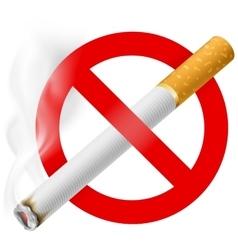 No smoking area label eps 10 vector