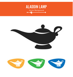 aladdin lamp simple black silhouette vector image