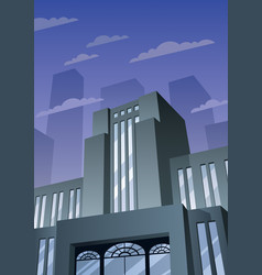 Art deco building 2 vector