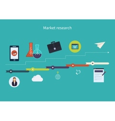 Market research icons vector