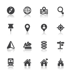 Map and location icons vector