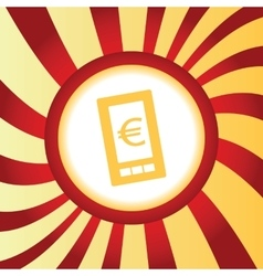Euro on screen abstract icon vector
