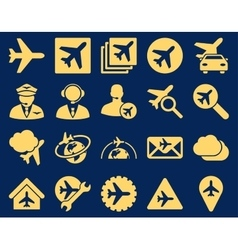 Aviation icon set vector