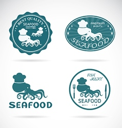 Octopus seafood vector
