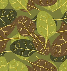 Military texture of leaves spinach camouflage army vector