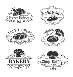 Vintage Label Decorative Bakery and bread vector image