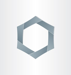 Abstract hexagon shape background symbol vector