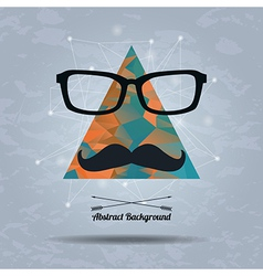 abstract hipster background with triangle vector image
