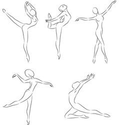 ballerines vector image vector image