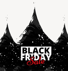 black friday sale poster design vector image
