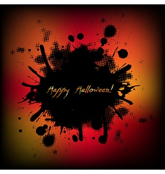Black Halloween With Blobs vector image vector image